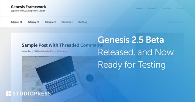 Genesis 2.5 beta-1